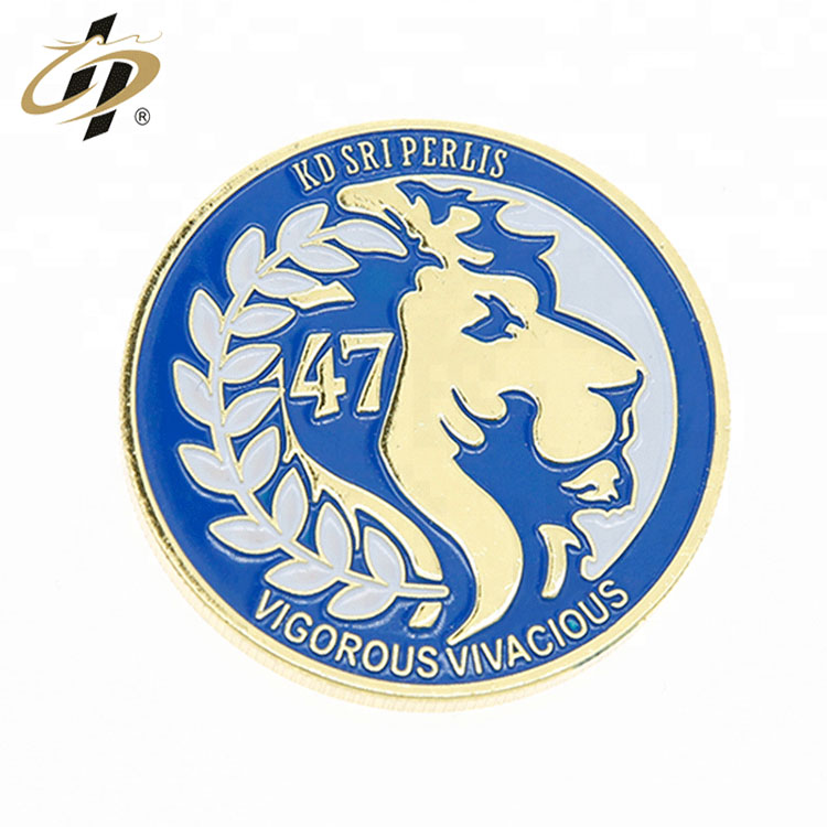 Wholesale custom gold metal enamel souvenir game coin