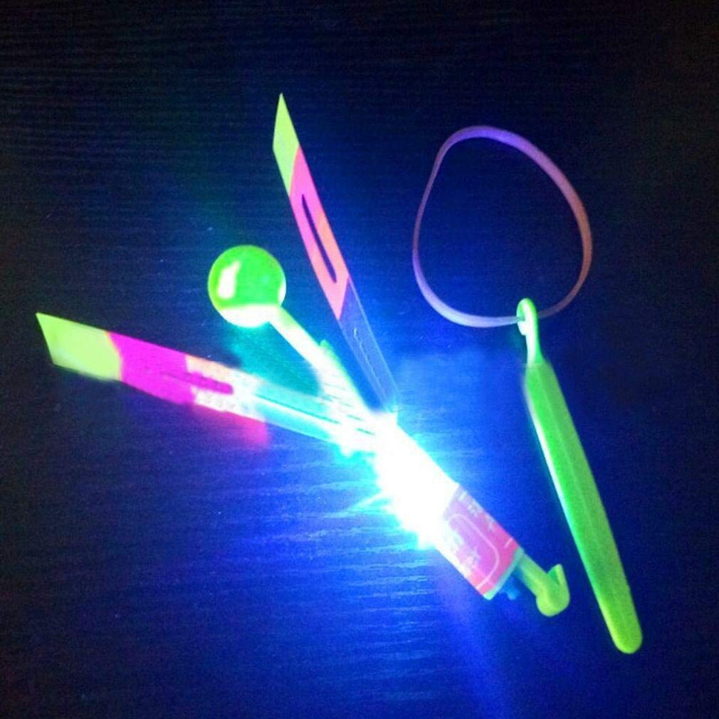 LED Light Up Flashing Dragonfly Glow For Party Toys, Rocket Copters,The Amazing Slingshot LED Helicopters, Gbell