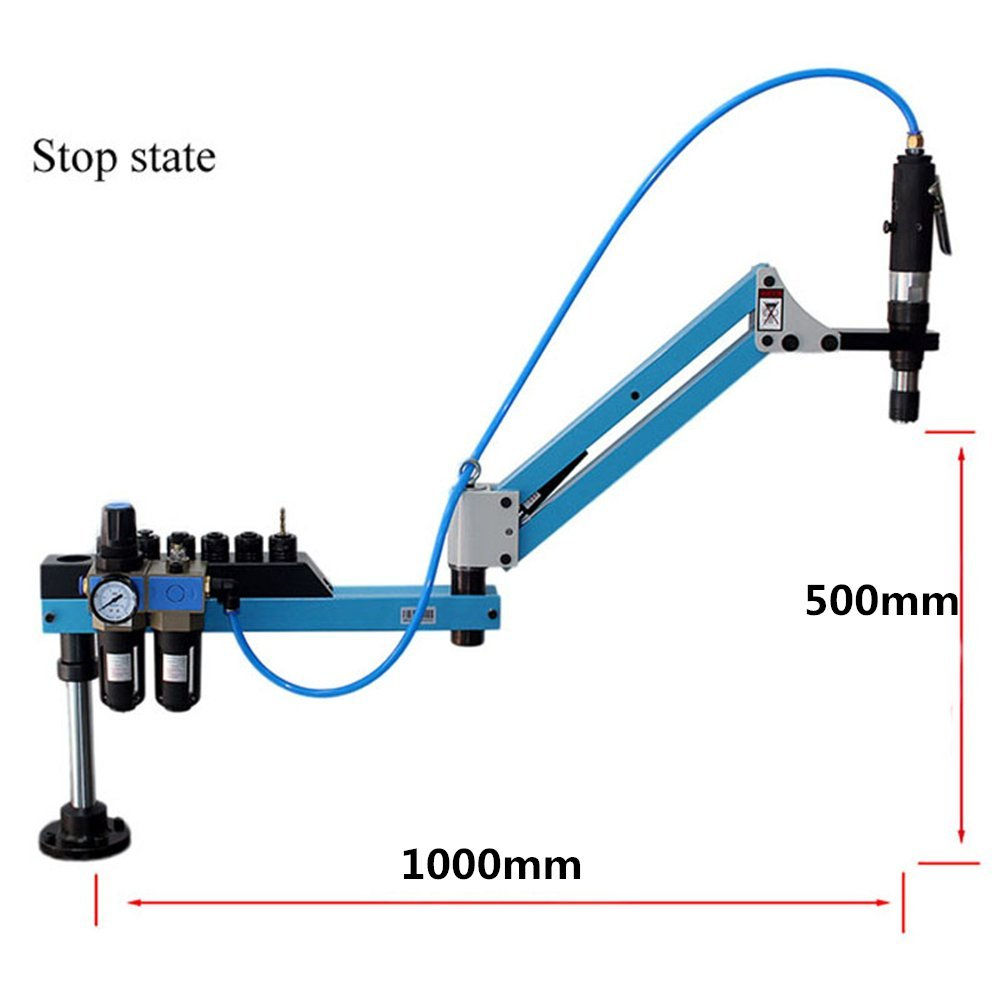 M3-M16 Universal Type Pneumatic Air Tapping Tool Machine-working Taps Threading Machine Tapping Capacity Pneumatic Tapper Tool Working radius: 1M / 39.37inch
