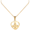 Factory Price Fashion Love Gemstone Pendant Jewellery Necklace,Latest Design 14K Gold Plate Saudi Necklace Jewelry