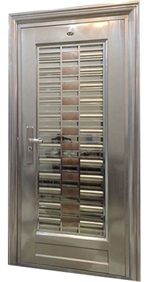 Custom made 304 stainless steel door for indian main door for Decorative main door designs