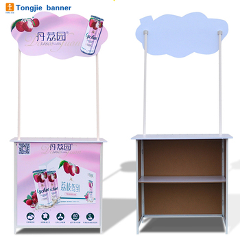 Trade show foldable pop up portable promoter counter display