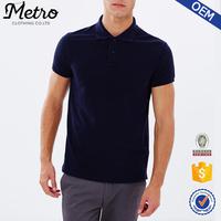 Wholesale Latest Design Custom Plain Men's Black Slim-fit Polo T-shirts