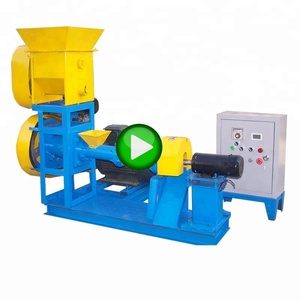 Hot sale screw fish pellet extruder/small floating fish feed pellet extruder machine