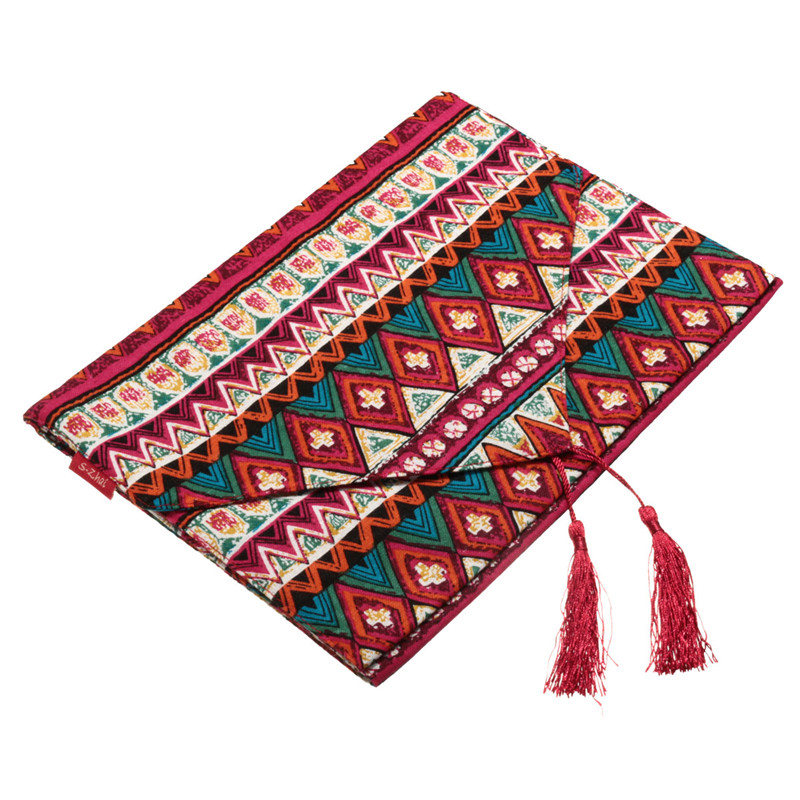Excellent National style Reversible Bohemian Tassel Tablecloth Cotton Table Runner For Home Party Decor Fabric Crafts