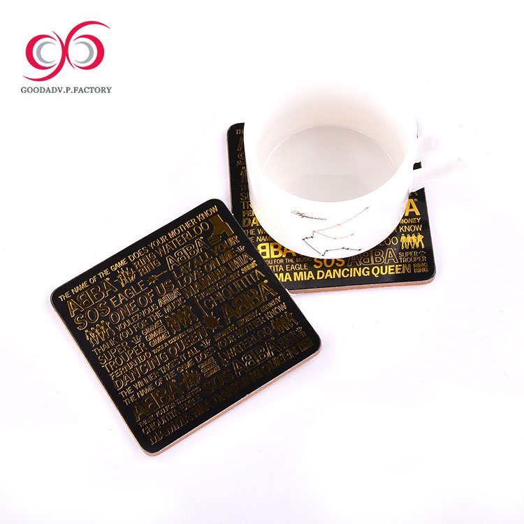 Wholesale Price drinking cup MDF coaster mat guangdong