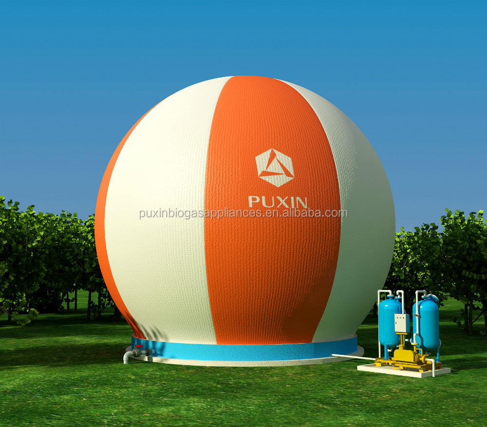 Inflatable Concrete China Puxin Pvc Membrane Biogas Storage Bag Fixed To Concrete Bed
