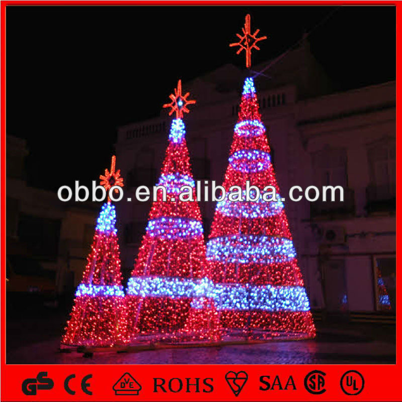 2014 town display led big christmas tree outdoor