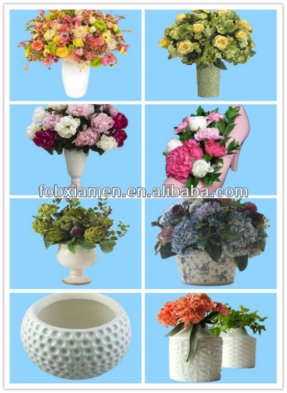 High quality white ceramic flower arrangement