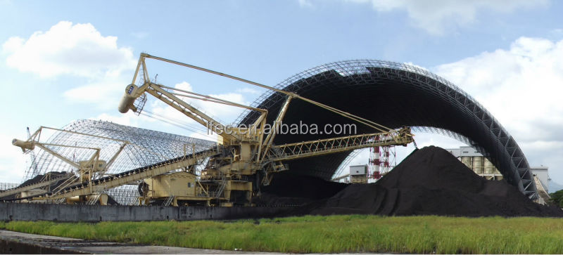 Arch Steel Coal Storage Space Frame In Philippines