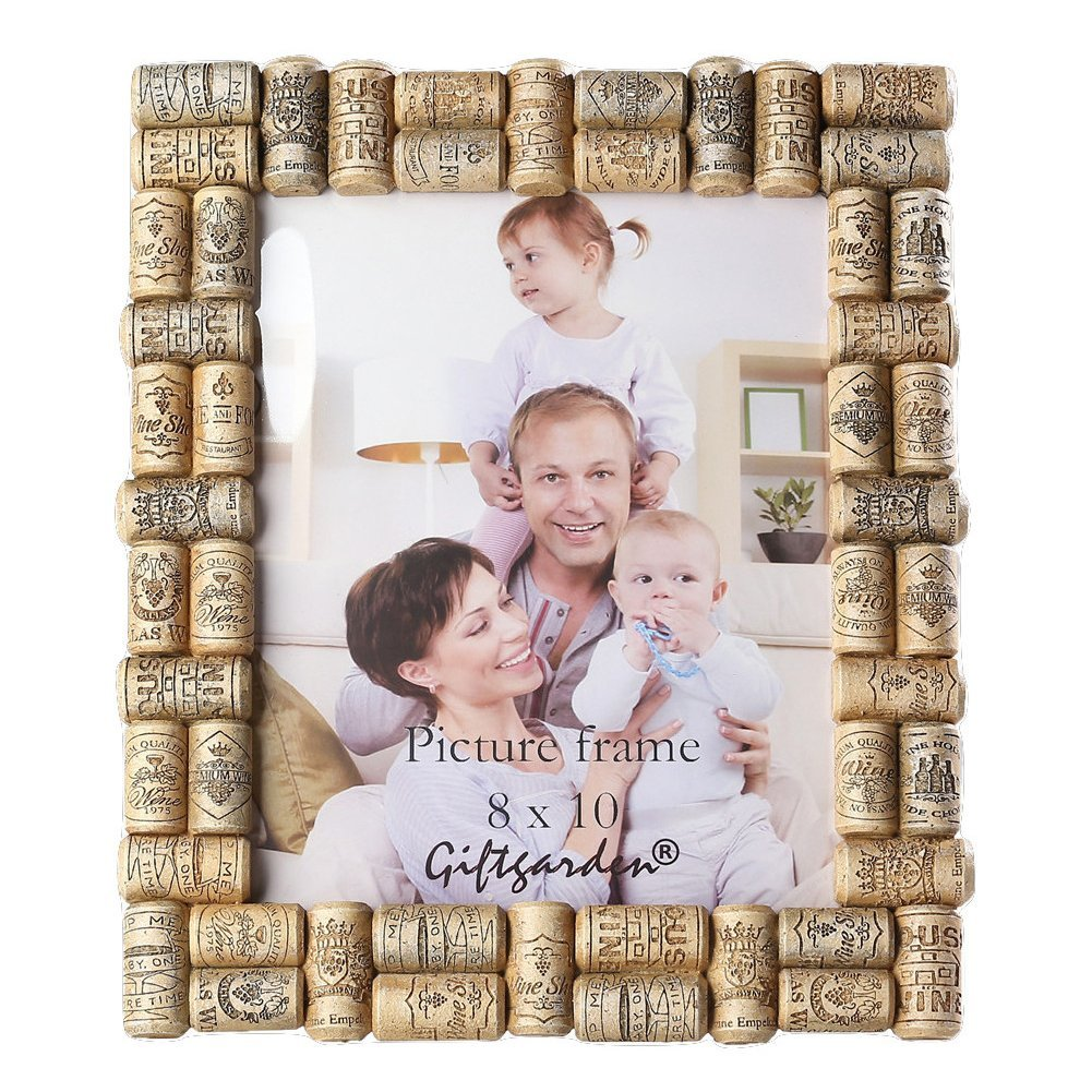 Giftgarden 8x10 Picture Frame Wine Cork Home Frames for 8 by 10 inch Photo