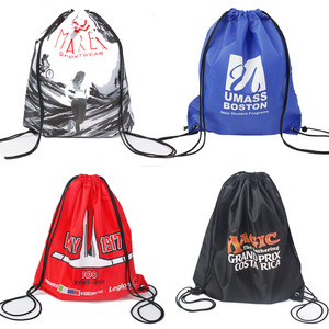 Cheap Sports Gym Drawstring Backpack Polyester Draw String Bags