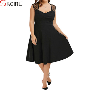 Fat Women\'s Party Wear Polka Dot Knee Length Plus Size 1950s Vintage  Rockabilly Retro Swing Dress - Buy 1950s Plus Size Fat Women Polka Dot  Swing ...