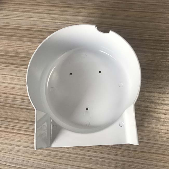 Professional oem sheet metal stamping parts white surface parts