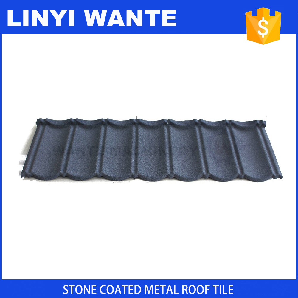 Building materials corrugated steel stone coated roofing tile