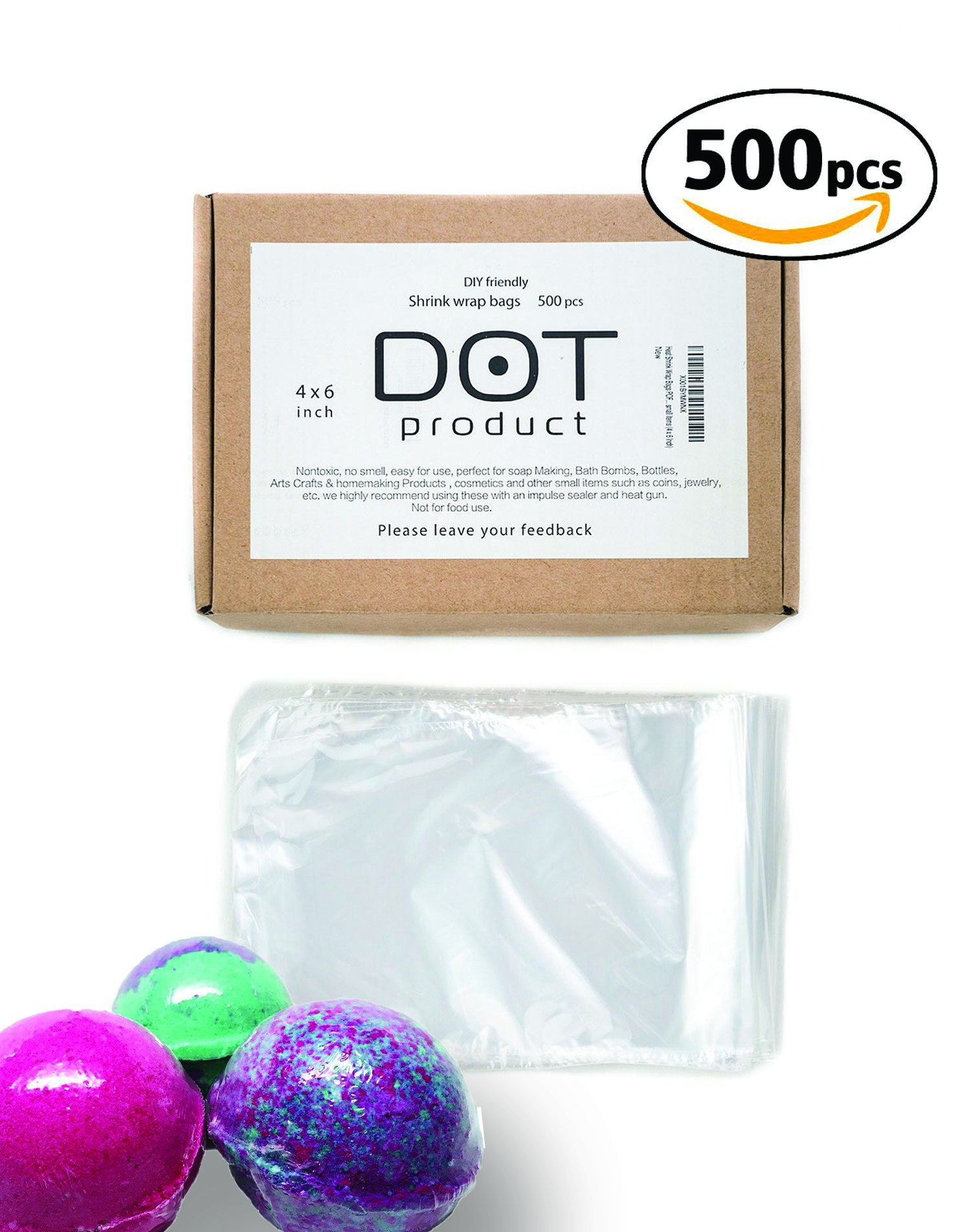 Bath Bombs R Bottles Crafts /& DIY Products by Mighty Gadget - 100 Gauge 50 pcs Quality 9 x 12 inch PVC Shrink Wrap Bags for Books Soaps