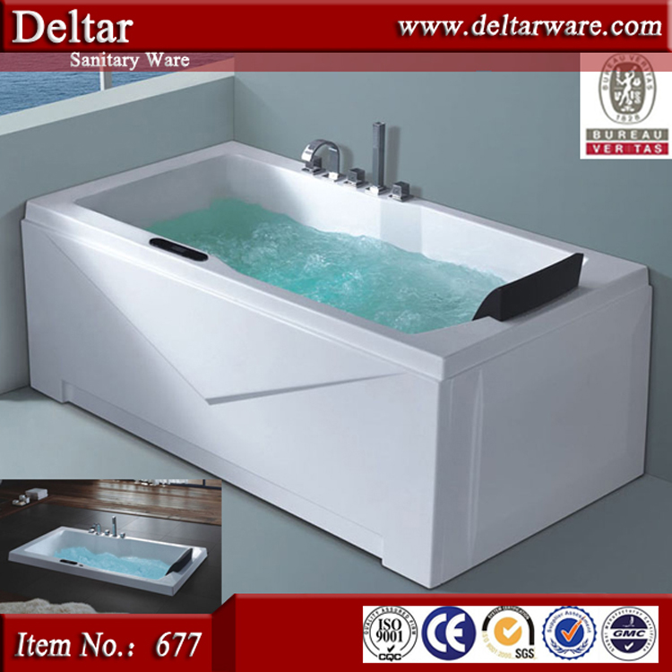 Strong Freestanding whirlpool bubble massage bathtub bathroom one person acrylic bathtub