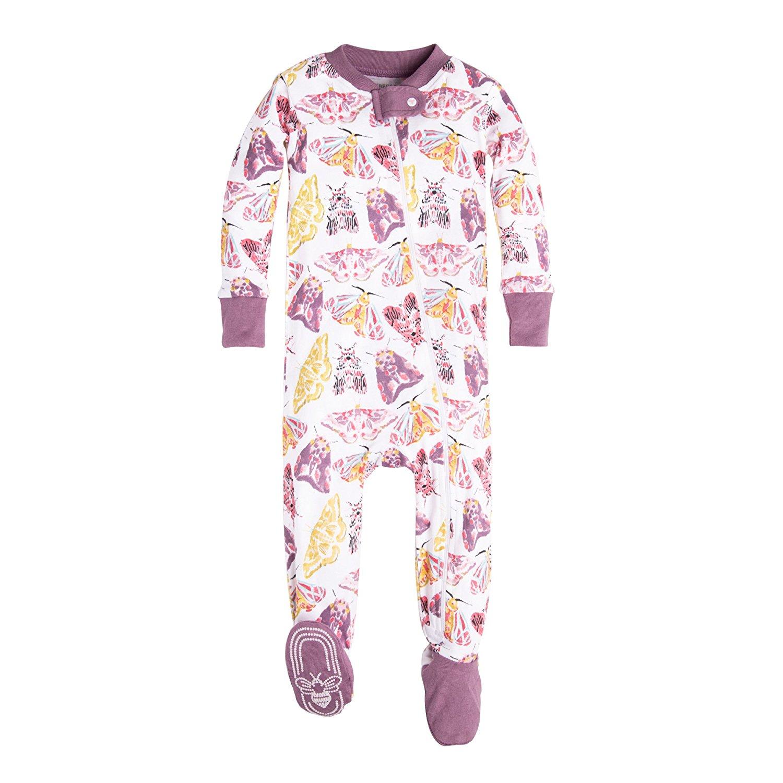 3d4bebce08 Get Quotations · Burt s Bees Baby Baby Girls  Soft Organic GOTS Certified  Floral Zip Front Non-Slip