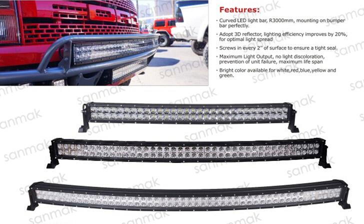 China Wholesale Auto Accessories Sanmak 42'' Double Row Cree ...