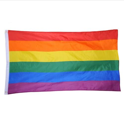 3x5ft Rainbow Flag Polyester Flag Gay Pride Lesbian Peace Lgbt With  Grommets/ Polyester Flag Banner For Advertising - Buy Rainbow Flag,3x5ft  Custom