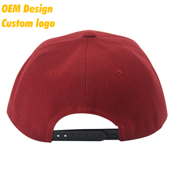 Best 2018 New fashion Cotton Plastic Buckle flat Brim sports screen printed  Maroon domed crown Snapback fa73cbbdc53