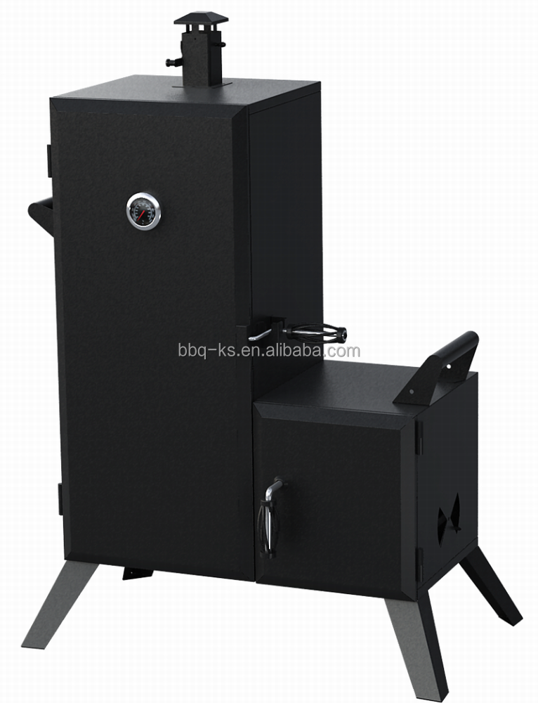 2017 popular outdoor charcoal BBQ meat smoker for family use