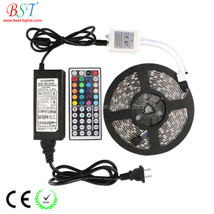 5m Smd led rgb strip 12V 5050 Waterproof rgb led Strip Light 300 Led + 44 Key Ir rf Remote+ adapter rgb led strip kit