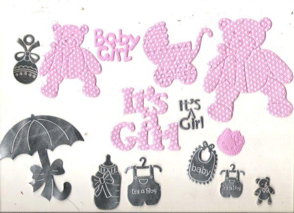 Baby Shower Scrapbook Embellishments
