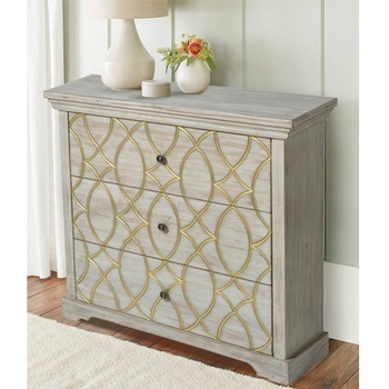 Mayco Luxury Antique Accent Drawer Storage Corner Furniture Wooden Cabinet Bedroom