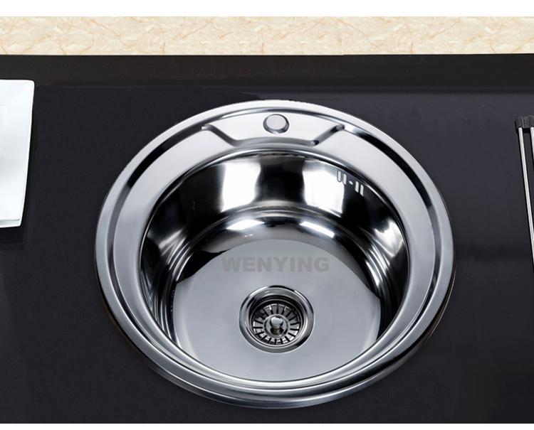 WenYing Best Kitchen sink Brand,Oval single bowl sink for kitchen