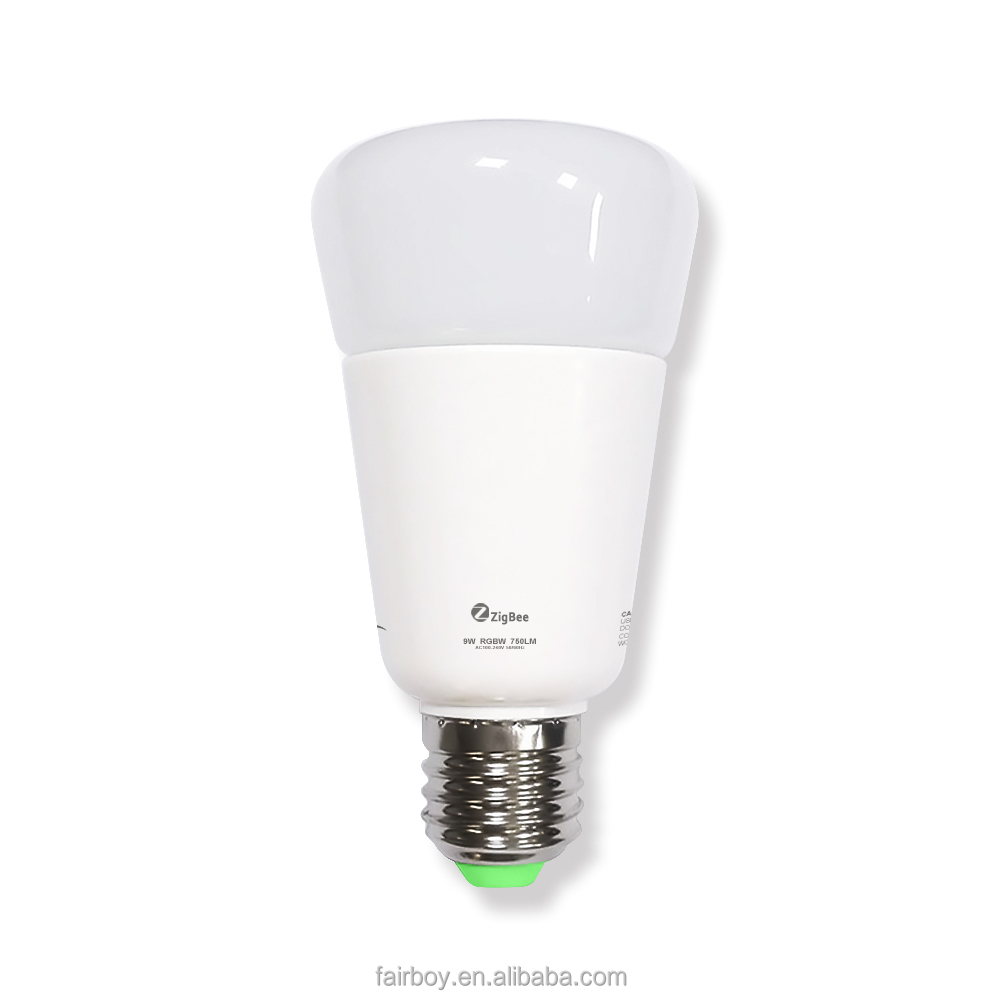 Shenzhen factory high quality Smart bulb light, Zigbee smart led bulb kit, led bulb <strong>e27</strong> with Alexa/Google Home
