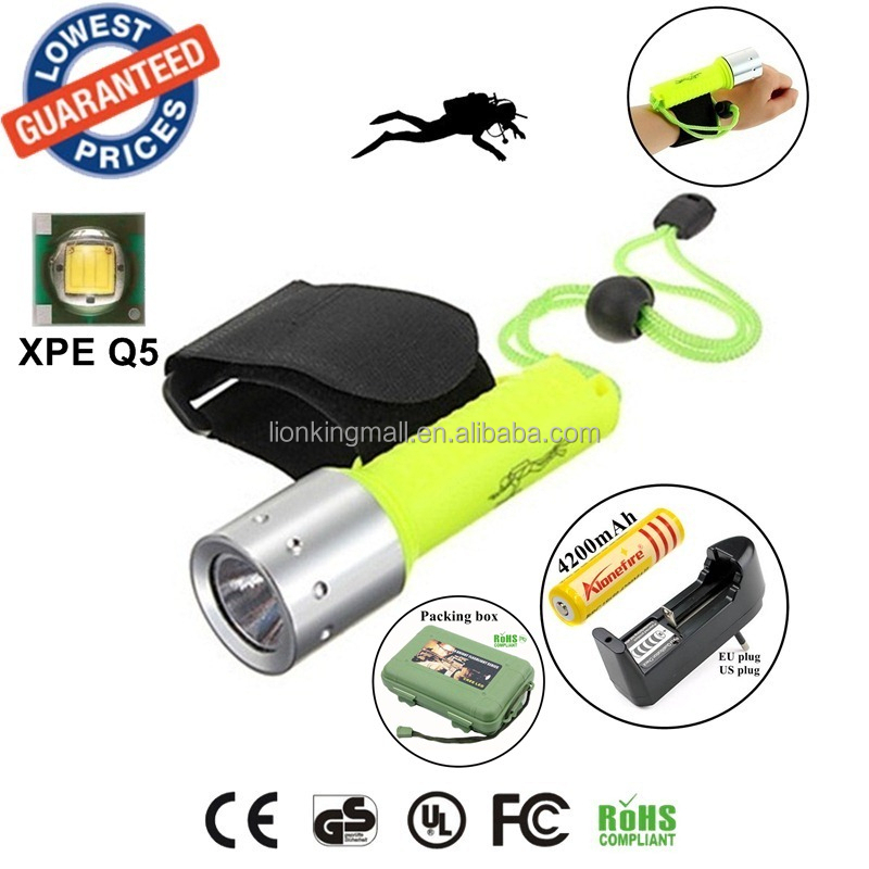 Wholesale Underwater Diving XM-L T6 LED Flashlight Torch Lamp 60M ...