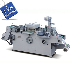 UTM320/420 Automatic Roll to Roll Foam sticker Flatbed Die Cutting Machine, Flat bed hang tag Ticket die Cutter with hole punch