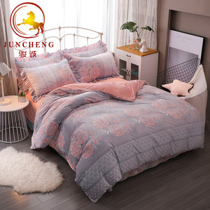 3D Fashion big rose pattern crystal burnout velvet luxury Bedding Set
