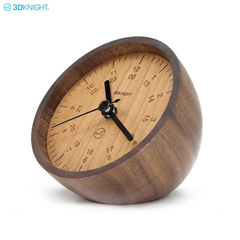 Wholesale Custom Luxury Small Half Ball Analog Table Wooden Desk Clock
