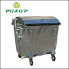 1100L Outdoor Lid Hot Dip Galvanized garbage container with wheels