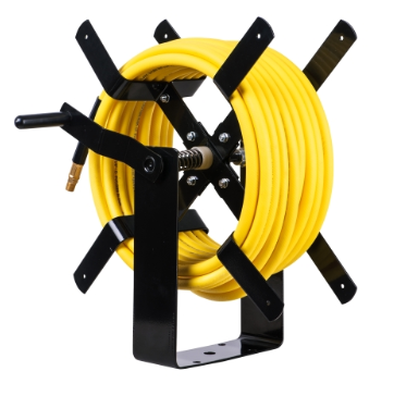 "Heavy-Dutyl Manual Air Hose Reel with 3/8"" x 100' Air Hose, Max.300 PSI"