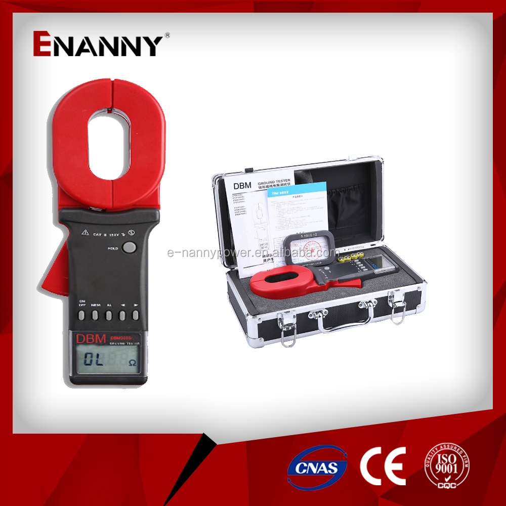 Earth Resistance AC/DC Current Clamp Tester DBM2000+