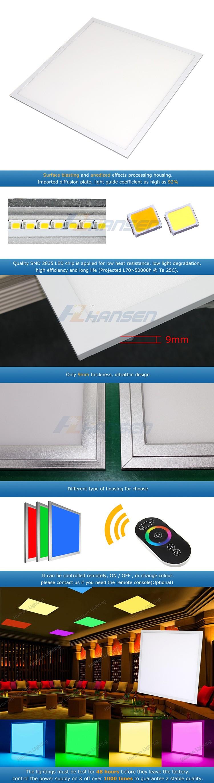 New Design Rgb Led Panel Light 600*600mm Led Panel Light In India ...