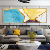 Bedroom wall beautiful big abstract glass hanging paintings