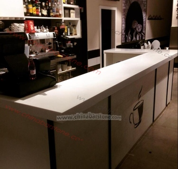 Elegant Contemporary White Whole Bar Furniture L Shaped Coffee Counter