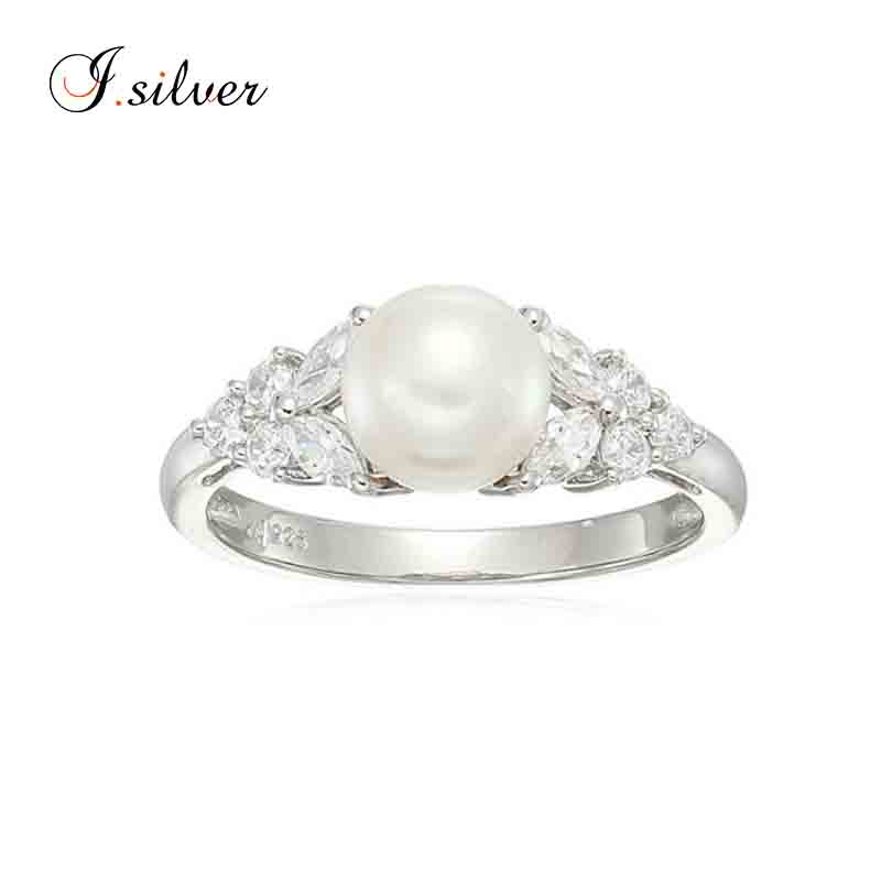 Royal famous beautiful pearl silver 925 ring mounting imitate jewellery R51022