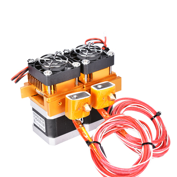 Mk8 12V filament extruder dual head extruder For Makerbot 3D