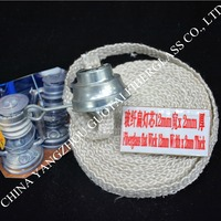supplying sufficient burning and non-knot flat or round fiberglass wick