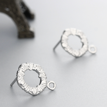 Unique Ladies Jewellery 925 Silver Round Ring Type Earrings Findings