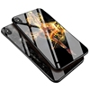 Amazon Hot Selling Colorful Slim Tempered Glass Back Cover Phone Case For iPhone 6 7 8 X Mobile Phone Shell