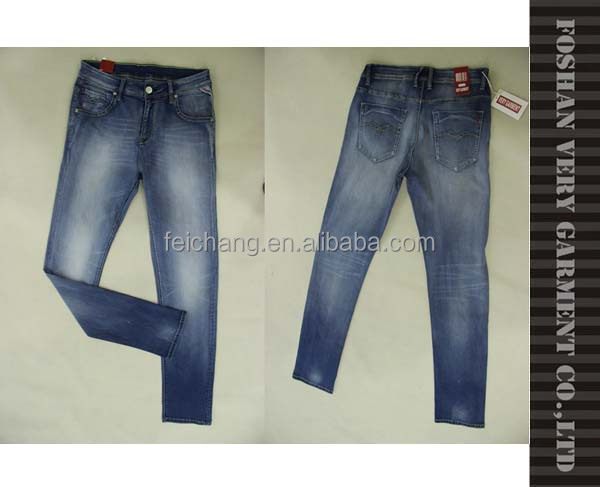 Robin jeans for men handbrush and monkey washing effect