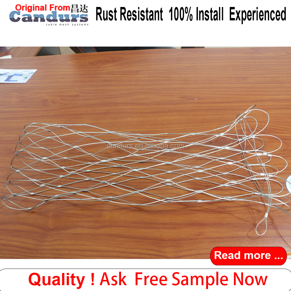 Anti theft Flexible Stainless Steel Cable Rope Net Bag