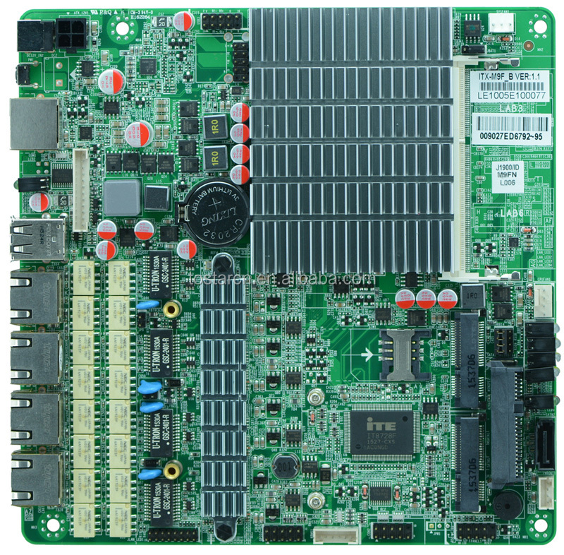 Bay Trail CPU J1900 4 LAN Motherboard network Server motherboard