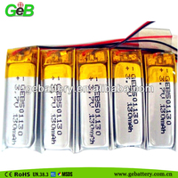 Heated Celling 3.7v 130mah polymer rechargeable battery 501130 for MP3/MP4